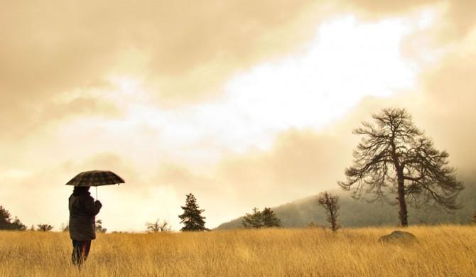 Çamkoru Göleti'nde Yağmurlu Bir Gün